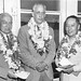 Loren Roscoe Chandler (1895-1982) with Dr. Jerome Webster and General Robert S.K. Lim