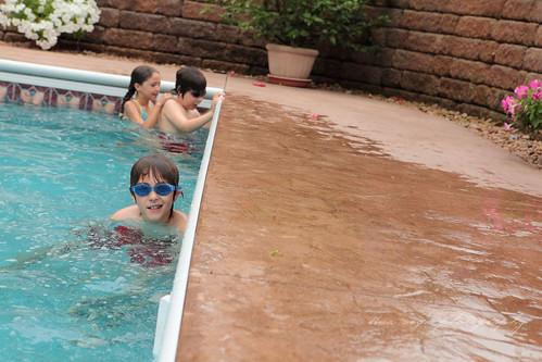 angled pool