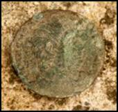 Coin Found in Roman Mosaic