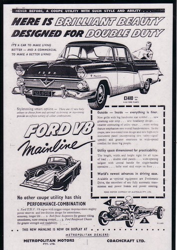 1958 Ford Mainline V8 Ute - Star Model Ad