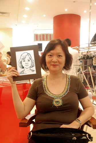 Portrait live sketching for Marella boutique - 9