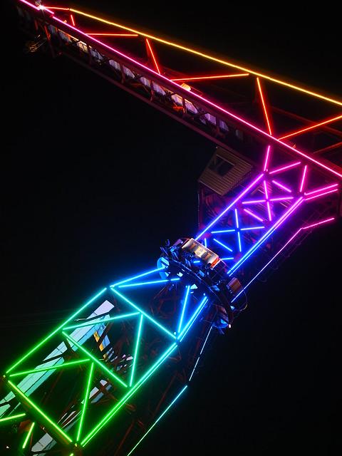 psychedelic crane