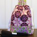 Itty Bitty Brittney Travel Bag - Medalion Print in Pink, Brown and Lime