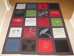 Hubby's T-shirt quilt top