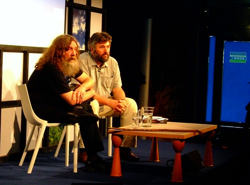 Alan Moore and Steve Bell at the Edinburgh Book Festival
