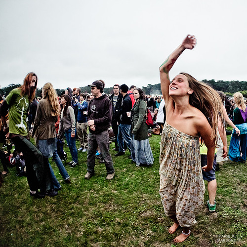 Hippies Dancing at Outside Lands