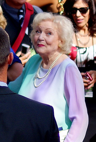 Betty White Emmy red carpet