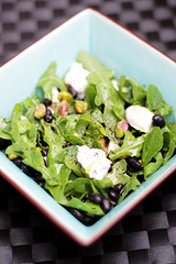 Goat Cheese, Black Beans and Rocket (Salad Pride) Tags: food cooking blog salad healthy mint vegetarian rocket 365 recipes diet blackbeans goatcheese salads pistachios blackpepper saladpride