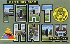 Greetings from Fort Knox, Kentucky - Large Letter Postcard (Shook Photos) Tags: army linen kentucky postcard military postcards greetings fortknox usarmy linenpostcard unitedstatesarmy bigletter largeletter largeletterpostcard fortknoxkentucky linenpostcards largeletterpostcards bigletterpostcard bigletterpostcards