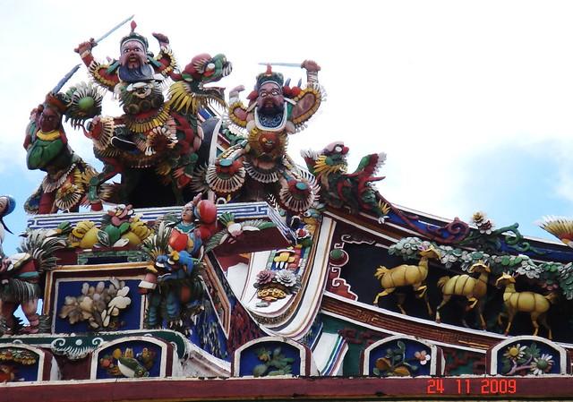 DSC01919 马六甲青云亭 屋顶雕饰,Cheng Hoon Teng Temple,Malacca
