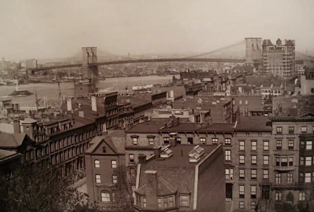 Brooklyn Bridge and the Heights 1899