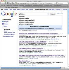 Get Seen: Google Instant