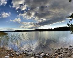 Lake Kallavesi, Kuopio, Finland (...Ashish...) Tags: sunset panorama night canon finland rebel raw cloudy 24mm stitched hdr kuopio hugin kallavesilake