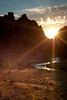 Asterisk Pass Sunset (Amicus Telemarkorum) Tags: sunset shadow wild sky sun nature rock clouds oregon river golden october stream outdoor cliffs beam hour rockclimbing smithrock crookedriver riverrunsthroughit asteriskpass jeffreyrueppelphotography