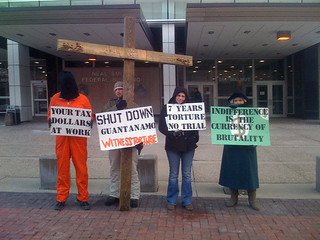 2009/2010 Anti-Torture Vigil at Des Moines Federal Building