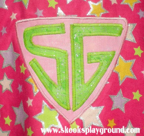 Pink Princess SuperHero Cape - Emblem