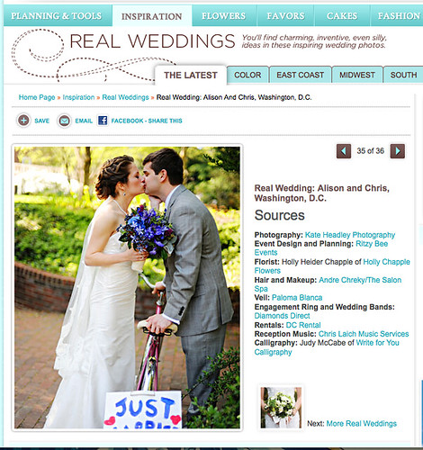 A Chris Laich Music Services wedding  featured on Martha Stewart Weddings!