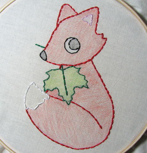 Fox embroidery 2 -Embroidered!