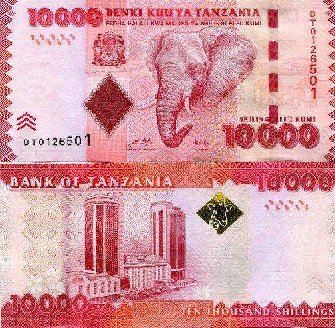 10000 Šilingov Tanzánia 2010(11)