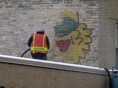 Pullin' a Gargamel (silverfuture) Tags: streetart chicago smurf 13 mayfair cityofchicago graffitiblasters