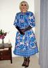 Blue Silk Dress (Christine Fantasy) Tags: christine silk satin dress bouffant petticaot makeup heavy crossdresser transvestite glamour shemale transsexual