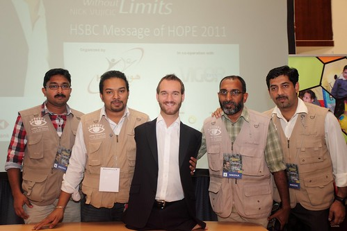 proud moments of DK....Shouldering HOPE QATAR for Nick Vujicic's event