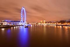 The London Eye & Big Ben (Matthew Earnshaw) Tags: uk longexposure london westminster thames night housesofparliament londoneye parliament bigben southbank riverthames embankment canon1022mm canon1000d