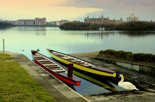 Rowing Boats On Southport Marine Lake