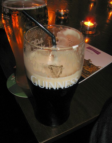 Pint of Guinness with a Straw