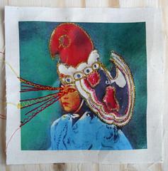 IMG_0367 (maria wigley) Tags: new colour art vintage print photography frames child needlework stitch drawing embroidery contemporary fabric nostalgic trend textiles transfer childish childlike handstitch machinestitch