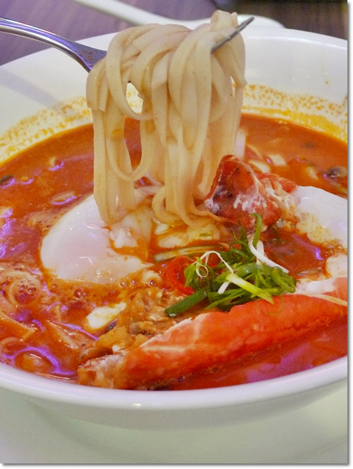 Signature Prawn Noodles with Poached Egg