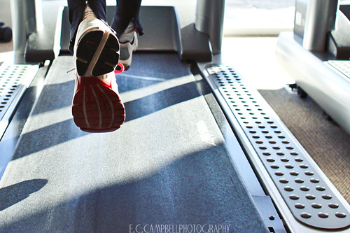 Running on a treadmill by eccampbell, on Flickr