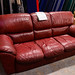 3 seater wine leather sofa E200 ideal for rentals