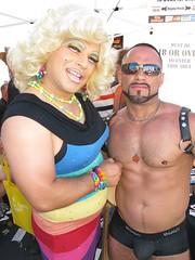 Frieda (danimaniacs) Tags: chicosangels friedalaye dragqueen shirtless hunk man guy beard leather harness bulge