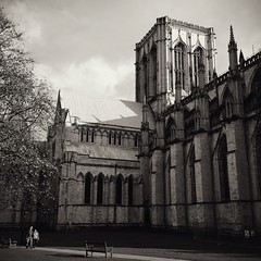 York Minster grounds (chinese johnny) Tags: york england uk greatbritain 2013 iphone iphoneonly instagram iphone5c squareformat square bw blackandwhite monochrome moody melancholy winter streetphotography documentaryphotography documentary ambient reallifenotposed oldeurope vscocam vsco m flickrunitedaward