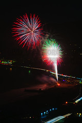 50 (morgan@morgangenser.com) Tags: pacificpalisaddes beach belairbayclub blue celebrate fireworks color iso100 july3rd loud nikon night ocean orange pch people red reflection special spectacular streaks timeexposire tripod yellow amazing