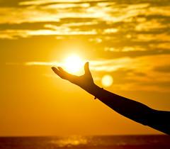 (toltequita) Tags: sun sunset arm hand sunlight