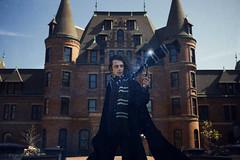 """Young Severus"" (Kavan The Kid) Tags: photoforge kavan kid harry potter severus snape hogwarts fine art self portrait strange surreal magic amazing whimsical wand cosplay abstract photography photoshop canon"
