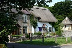 Thatched Cottage, Bretforton. (Heaven`s Gate (John)) Tags: thatched cottage house dwelling bretforton cotswolds engalnd johndalkin heavensgatejohn tree sunshine vilage