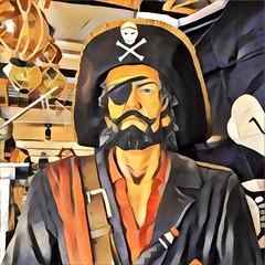A Pirate of Penzance (Helen Orozco) Tags: prisma pirate penzance cornwall skullandcrossbones eyepatch
