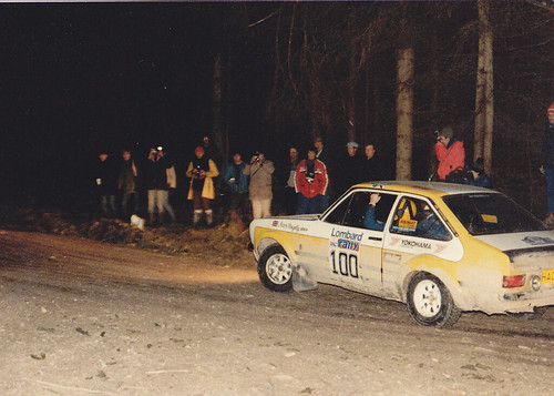 Ford Escort Mk2 Rally Car. 1983 RAC Rally Car # 100 Ford