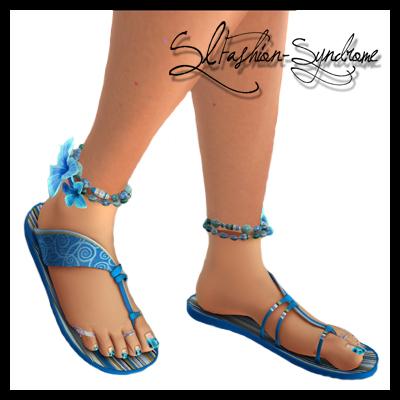 +ADDiCTIA+ Tropica Flip Flops blue