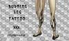 NEW Burning Leg Tattoo