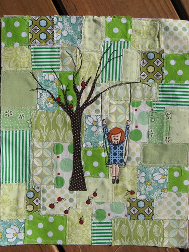 Girl on Swing from Tutorial by Comfortstitching