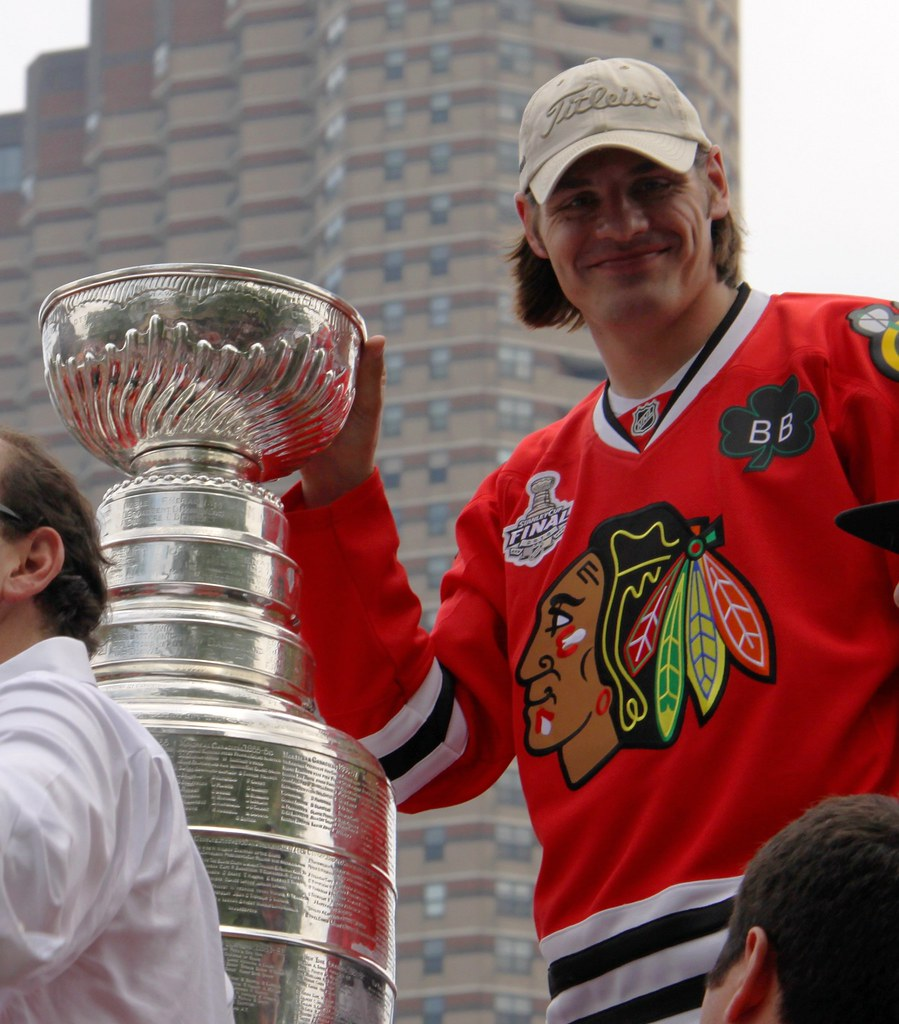 Stanley Cup in 2010 Chicago Pride Parade w/Brent Sopel
