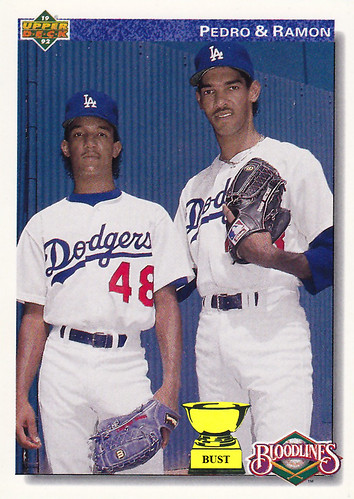 Baseball Card Bust Pedro And Ramon Martinez 1992 Upper