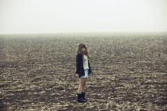lazylikethesky (yyellowbird) Tags: girl field fog corn cari tyjon