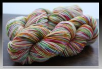 'Tropical rainbow' on Splash SW Merino