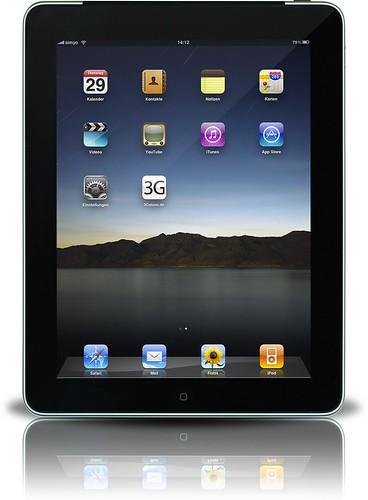 iPad Home screen. Photo Courtesy:3GStore.de
