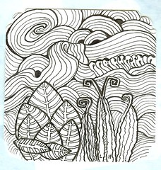 weeds and water (lacefairy1) Tags: doodle zentangle